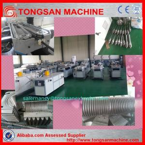 China Plastic corrugated pipe machine/ PP PE PVC corrugated flexible hose making machine on sale