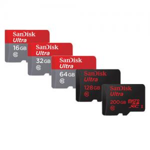 China Sandisk 16GB 32GB 64GB 128GB 200GB Micro SD SDHC Micro SDXC Class10 Flash Memory Card on sale