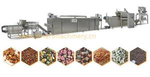 China Dry Dog Food Production Line Siemens PLC & Touch Screen Control Pet Food Making Machine on sale