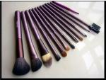 12 Pcs Cosmetic Brush Set , Professional Makeup Brush Kit PU Bag Wood Handle