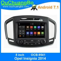 Ouchuangbo car radio player android 7.1 system for Opel Insignia 2014 with wifi 3g SWC USB calculator DDR3 2GB