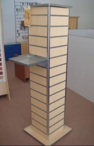China Góndola libre de la exhibición de la base cuadrada de 4 de la manera de la placa de acero unidades de visualización de Slatwall on sale