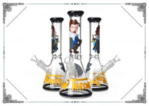 China 10 Inches Game of Thrones Bong  Hand Blown Glass Water Pipe Mix Design In Stock on sale