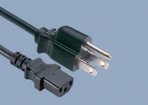 China UL CUL CSA 10A 125V 3 Prong NEMA 5-15P IEC C13 American UL Power Cord on sale