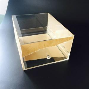 China Custom Transparent Acrylic shoe box with drawer on sale