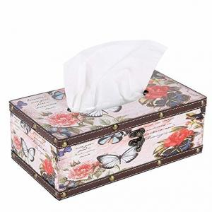 China Handcraft Long Tissue Box Cover / Wooden Kleenex Box Cover With Latch on sale