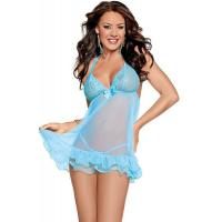 Sexy Lingerie Wholesale  Lacy Bliss Sheer Babydoll Lingerie Sexy Babydoll Lingerie Chemises wholesale from manufacturer