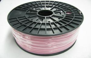 China Pink 1.75mm Plastic Filament For Desktop 3D printer / 3D ABS Filament on sale
