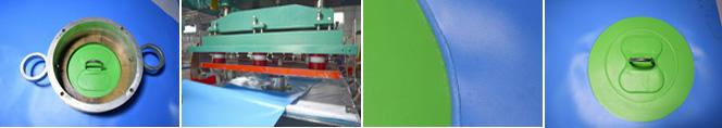 Trampoline with inflatable slide Airtight Inflatable Water Sport / Inflatable Trampoline for inflatable water games