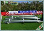 UV Protection Retractable Plastic / Aluminum Bleacher Football Stadium Chairs
