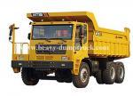 Carga clasificada 60 toneladas del poder del motor del volquete 309kW del camión volquete de la explotación minera del camino con el volumen del cargo del cuerpo 34m3