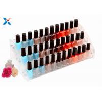 China Nail Polish Counter Acrylic Display Rack Showcase Multi Tiered Good Chemical Resisdence on sale