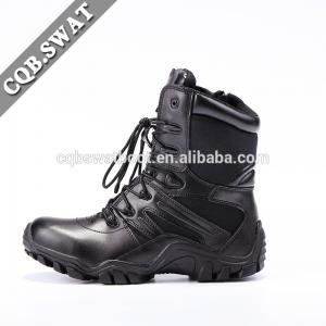 China CQB.SWAT Army Military Tactical Breathable Black Wearable Combat Boots with side YKK zipper on sale