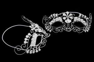 China Party Jewelry Rhinestone Mask Wholesale Half Face Fashion Crystal Masquerade Mask Crystal Bridal Jewelry MK002-280 on sale