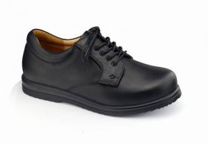 China Women's Therapeutic Genuine Leather Wide Shoes Comfort Footwear Lace-up Work Shoes on sale