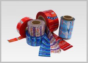 China Envoltório seguro em torno das etiquetas para garrafas de água, espessura 25mic do filme de estiramento do PVC da impressão de 8 cores a 50mic on sale