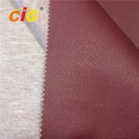 China Luxury Sofa Pvc Leather Material Knitting Backing , Faux Leather Upholstery Fabric on sale