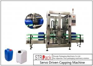China 5L - 25L Plastic Drum Bottle Capping Machine With Full Automatic Single Head 750pcs / Hour on sale