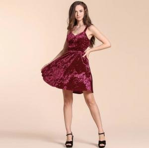 China Fashion Mini Dress Hot Sexy Velvet Dress Party dress on sale