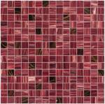 De color rojo oscuro con la línea teja del oro de mosaico de cristal del cuadrado del modelo de la mezcla del mosaico