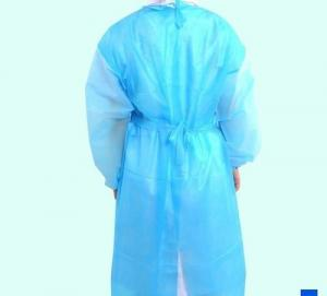 China Sanitary Sterile Disposable Body Suit , Foam Proof Non Woven Disposable Surgeon Gown on sale