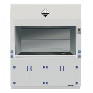 China ZOYET 1800 width Laboratory Furniture Safe Ductless Fume Hood Exhuasted System on sale