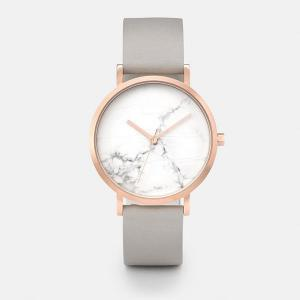 China Leather Band Real Marble Face Womens Watch 3atm Water Resistant on sale
