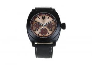 China Luxurious Dial Genuine Leather Band Analog Quartz Watch 30 M Water Resistance on sale