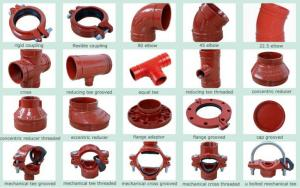 China Ductile Iron Groove Pipe Fitting & joint coupling fittings on sale