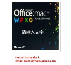 China Office 2011 Home / Business MAC FPP Key For  Office Product Key Codes Online Activation on sale
