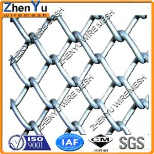 China Galvanized 8/9 gauge chain link wire mesh fencing for suspension bridge fence in Switzerland(factory) on sale