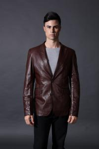 China Warm Lining Custom Colors Comfortable Men,  Mens Leather Suits With OEM Service For Adults on sale