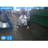 China Portable Metal Rectangular Downspout Roll Forming Machine with Post - cutoff Shear on sale