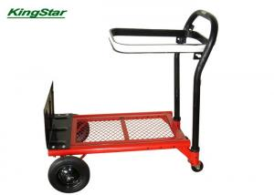 China 4 In 1 Hand Truck Trolley , Portable Flatbed Folding Handcart 300Lx150Wmm Toe Plate on sale