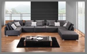 Quality Living Room Modern Fabric Sofas European Style Lobby Sofa Set Brown For