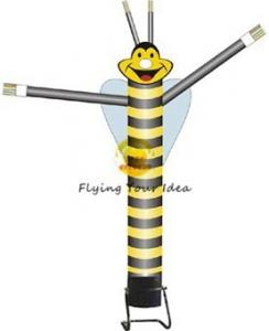 China Advertising Single Leg Inflatable Air Dancer 6M , Yellow Bee Sky Dancer For Fair on sale
