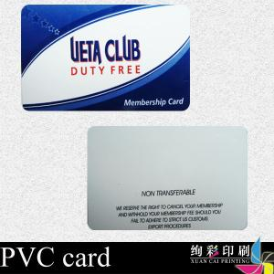 China Offset Business Printed Plastic Cards Matte Surface For Promotion on sale