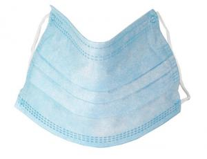 China White And Blue Disposable CE0197 Breathable Dust Mask on sale