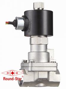 China 1/2 Inch 2 Way Piston SS304 Steam Solenoid Valve Normally Open PS Series on sale