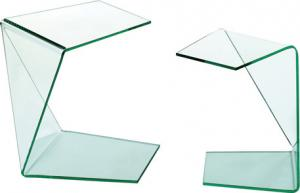 Quality Glass Top Side Table Furniture, Italian Unique Glass Coffee Table for sale