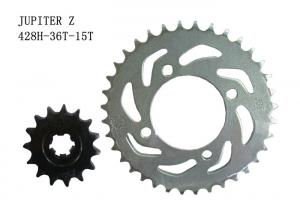 China JUPITER Z Motorcycle Sprocket Chain 36T-15T Heat Treatment Surface ISO Approval on sale