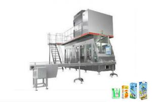 China High Speed  Paper Carton Aseptic Beverage Packaging Machine Turn Key Project 100-330ml on sale