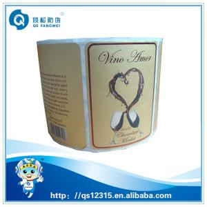 China Coated Gold Foil Self Adhesive Labels For Grape Wine Glass Bottle on sale