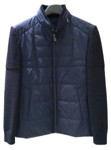 China Black Warm Wool Knit Sleeve mens down jacket and tops in Polyester on sale