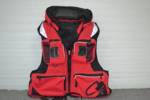 China Red Nylon EPE Foam Watersport Life Jackets / life vest jacket for Rescue on sale