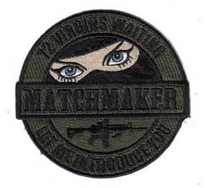 China Match Maker Morale  Embroidery Patch on sale