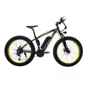 China 26 Inch Electric Snow Bike , Battery Powered Bicycles Max Speed 35KM/H on sale