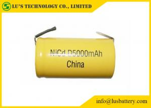 China High Capacity Nickel Cadmium Battery Size D 5000mah Rechargeable Battery supplier