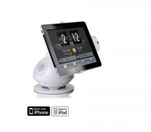 China Adjustable angle wireless iPhone docking station with speakers and charger for iPad iPod on sale