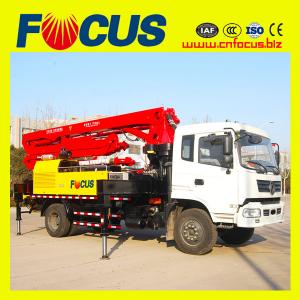 China 18m small concrete pump truck with dongfeng or sinotruck chassis on sale